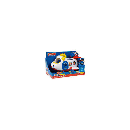 Fisher Price World Of Little People Spin N Fly Airplane