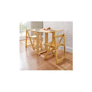 Photo of Ella 2 Seat Rubberwood Butterfly Set, Natural Furniture