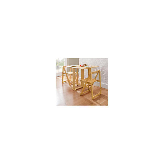 Ella 2 Seat Rubberwood Butterfly Set, Natural