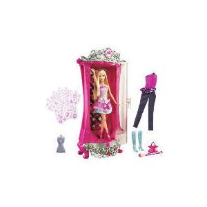 Photo of Barbie Fashion Fairytale Glitterizer Wardrobe & Barbie Doll Toy