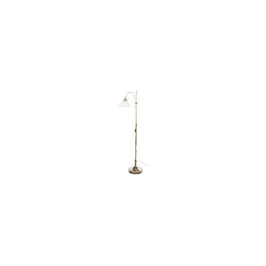 Tesco Antique Brass Rise & Fall Floor Lamp