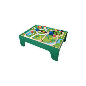 Photo of Little Steps 100 Piece Wooden Train Table Toy