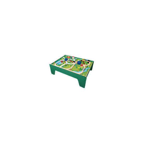 Little Steps 100 Piece Wooden Train Table
