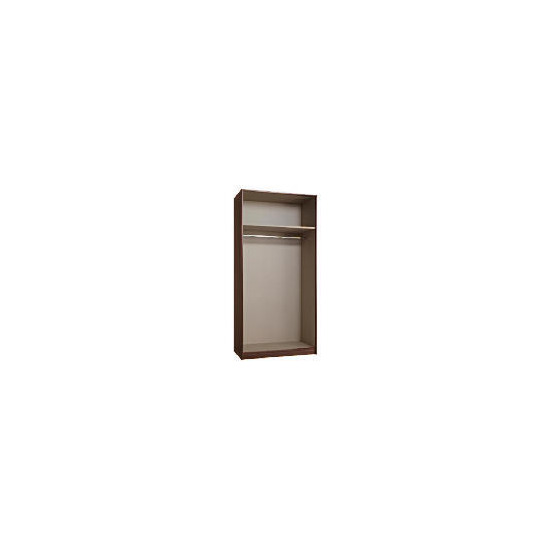Modular Double Wardrobe Frame, Walnut