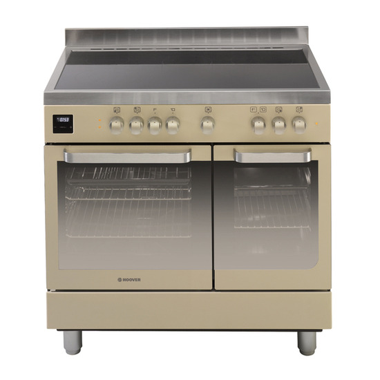 Hoover HVD9395IV Electric Range Cooker - Ivory & Stainless Steel