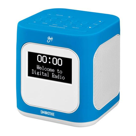 Smoothie GCDABN14 DAB+ Clock Radio - Blue & White