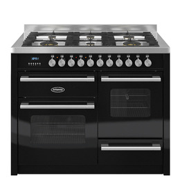 Britannia Delphi 110 RC11XGGDEK Dual Fuel Range Cooker - Matte Black & Stainless Steel Reviews