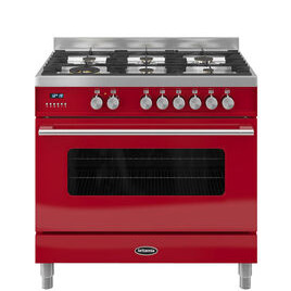 RC9SGDERED Delphi 90 Dual Fuel Range Cooker - Red