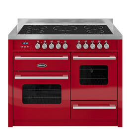 Britannia Delphi 110 RC11XGIDERED Electric Induction Range Cooker - Gloss Red & Stainless Steel