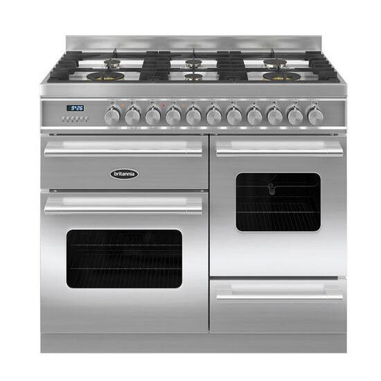 Britannia Delphi 100 RC10XGGDES Dual Fuel Range Cooker - Stainless Steel