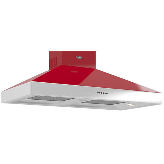 Britannia Latour TPBTH110GR Chimney Cooker Hood - Gloss Red