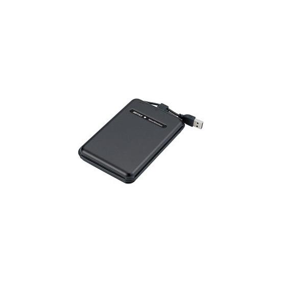 Buffalo MiniStation TurboUSB HD-PS120U2 - Hard drive - 120 GB - external - Hi-Speed USB - 5400 rpm