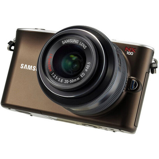 Samsung NX100 with 20-50mm lens