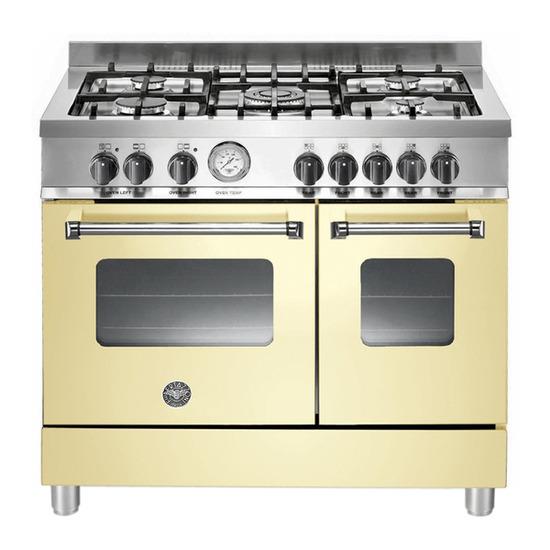 Bertazzoni Master 90 Duel Fuel Range Cooker - Cream & Stainless steel
