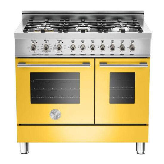 Rangemaster Professional 90 Dual Fuel Range Cooker - Yellow