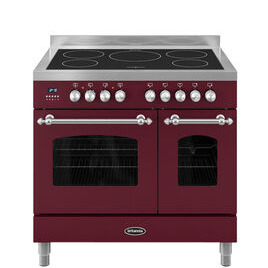 Britannia Fleet 90 Twin Electric Induction Range Cooker - Matte Burgandy