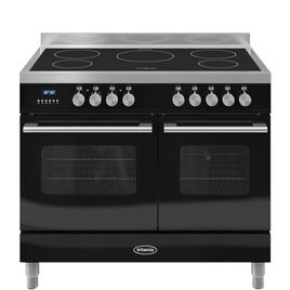 Britannia Delphi 100 Twin Electric Induction Range Cooker - Gloss Black & Stainless Steel