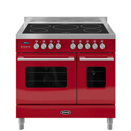 RC9TIDERED Electric Induction Range Cooker - Gloss Red & Stainless Steel