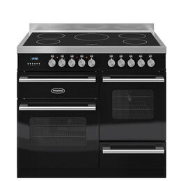 RC10XGIDEK Electric Induction Range Cooker - Gloss Black & Stainless Steel