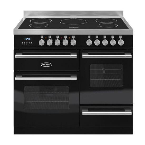 RC10XGIDEK Electric Induction Range Cooker - Gloss Black & Stainless Steel