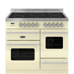 Britannia Delphi 100 XG Electric Induction Range Cooker - Gloss Cream & Stainless Steel