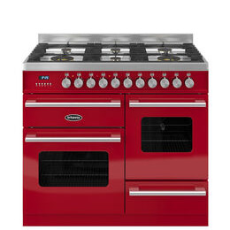 Britannia Delphi 100 RC10XGGDERED Dual Fuel Range Cooker - Gloss Red & Stainless Steel