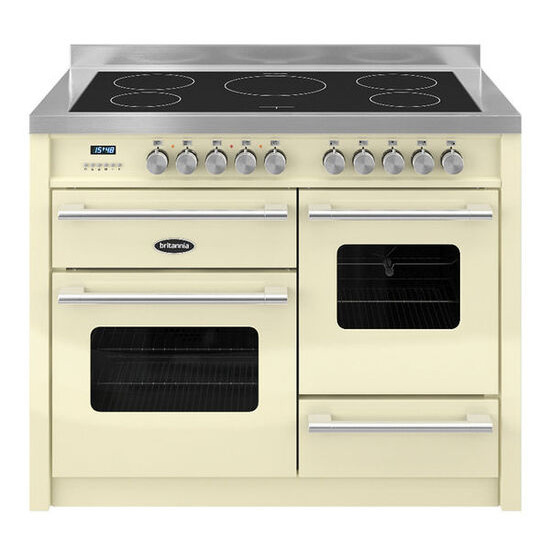 Britannia Delphi 110 XG Electric Induction Range Cooker - Gloss Cream & Stainless Steel
