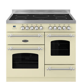 Britannia Fleet 100 XG Electric Induction Range Cooker - Matte Cream & Stainless Steel