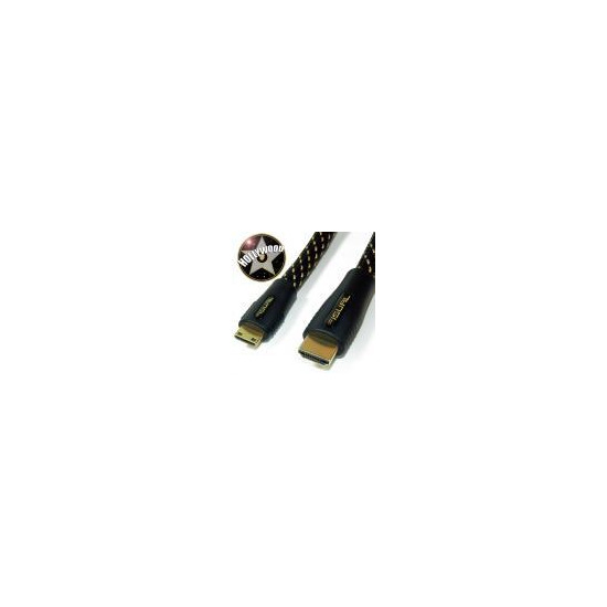 Fisual Hollywood HDMI-A To HDMI-C Interconnect. 1080p, v1.3, High Purity 26AWG Conductor 1.5m