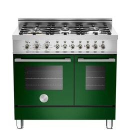 Bertazzoni Professional 90 Dual Fuel Twin Range Cooker - Green