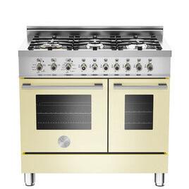 Rangemaster Professional 90 Dual Fuel Range Cooker - Cream & Stainless Steel