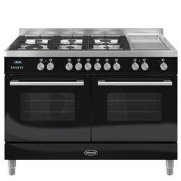 Britannia Delphi 120 Dual Fuel Range Cooker - Gloss Black