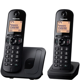 Panasonic KX-TGC212EB Cordless Phone - Twin Handsets