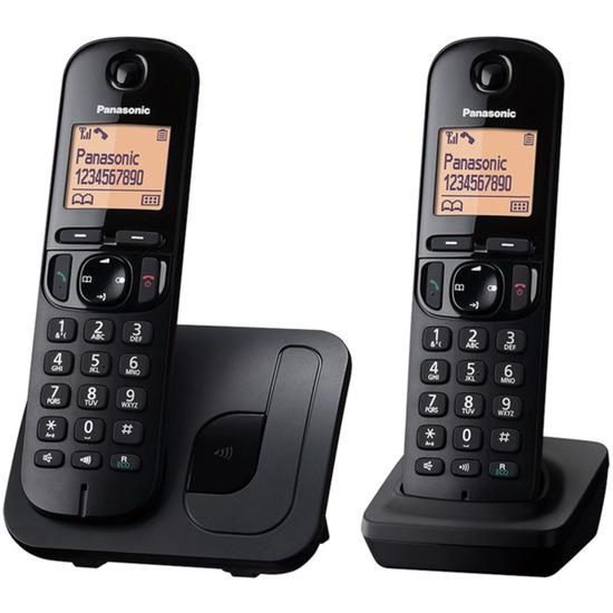 Panasonic KX-TGC212EB Cordless Phone - Twin Handsets