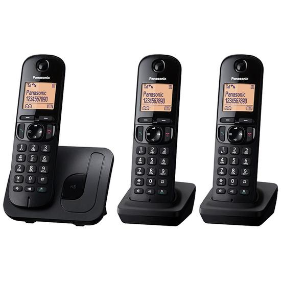 Panasonic KX-TGC213EB Cordless Phone - Triple Handsets