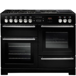 Rangemaster Platinum 110 Dual Fuel Range Cooker - Black & Chrome Reviews