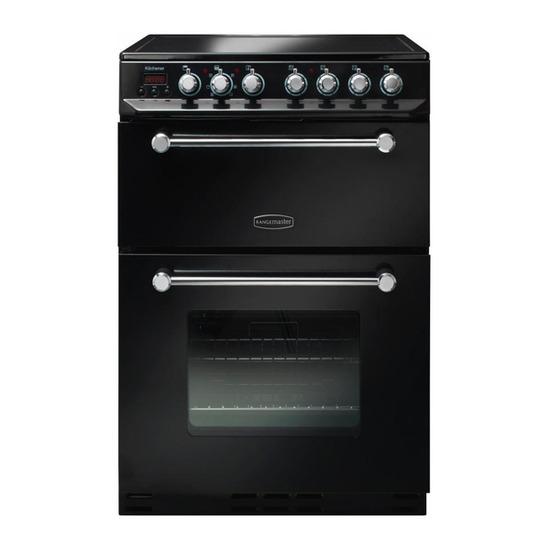 Rangemaster Kitchener 60 Electric Ceramic Cooker - Black