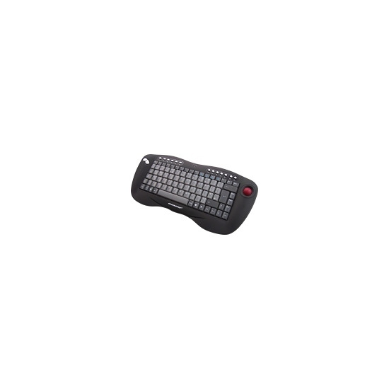 Ceratech Accuratus KYB-TOUGHBALL - Keyboard - wireless - RF - trackball - USB wireless receiver