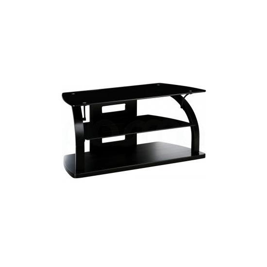 Jual Curve - Curved Black TV Stand for up to 37  TVs