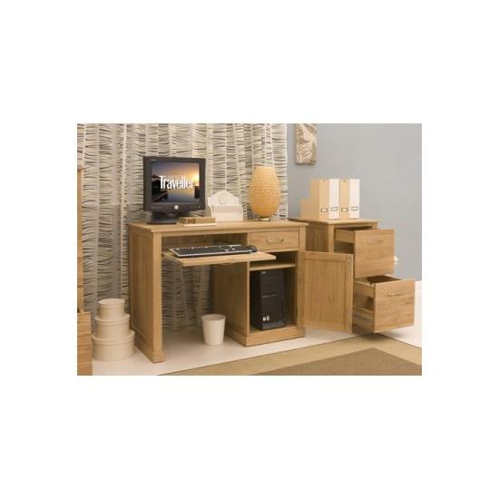 baumhaus cor06b brand new contemporary single pedestal computer desk