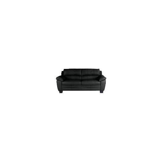 Owen Large Leather Sofa, Black
