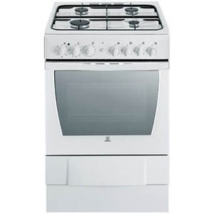 Photo of Indesit K6G520XG 60CM Dual Fuel Cooker With Hotpoint HE6TIX Chimney Hood Cooker