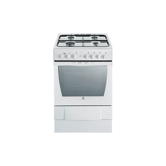 Indesit K6G520XG 60cm Dual Fuel Cooker with Hotpoint HE6TIX Chimney Hood