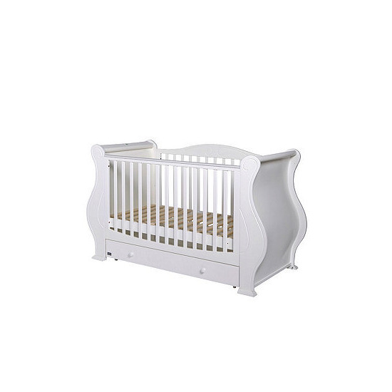 Tutti Bambini Louis Nursery Sleigh Cot Bed Birth-6yrs Grade Products According To Quality Nursery Decoration & Furniture