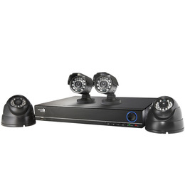 HomeGuard HG4KIT2+2C2T Four-Camera Eight-Channel CCTV Kit - 2 TB