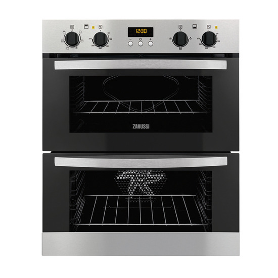 Zanussi ZOF35517XA Electric Built-under Double Oven - Stainless Steel