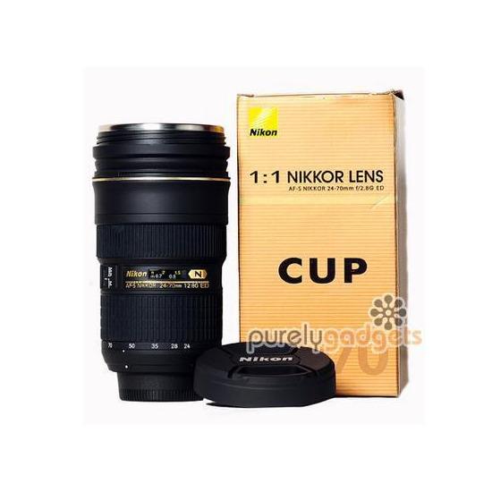 Nikon Lens AF-S 24-70mm f/2.8 ED - 1:1 Thermos Mug Cup