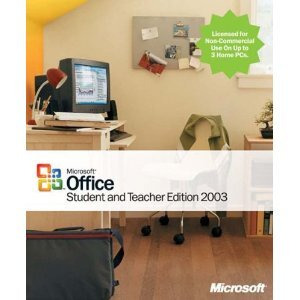 Photo of Microsoft Office Student and Teacher Edition 2003 Software