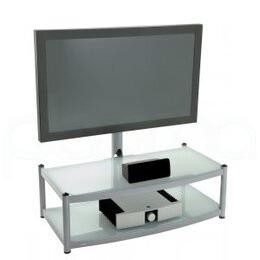Atacama Cantilever 2 Shelf TV Stand - Silver Reviews