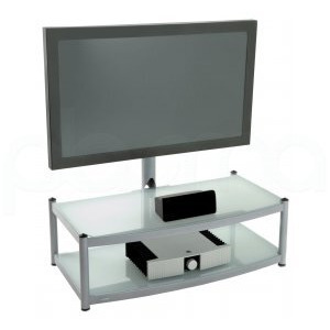 Photo of Atacama Cantilever 2 Shelf TV Stand - Silver TV Stands and Mount